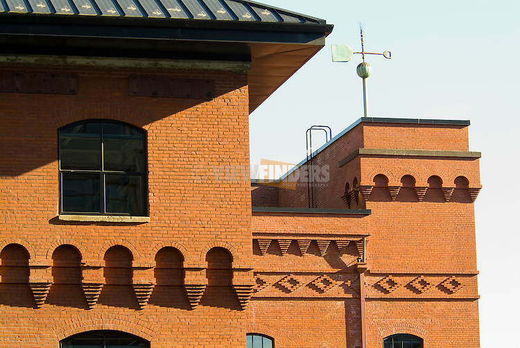 Brewery Blocks Architectural Detail in Portland, Oregon.