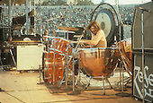 SAN FRANCISCO, CA - AUGUST 08: John Bonham performs with Led Zeppelin in concert at Kezar Stadium  on June 2, 1973 in San Francisco, California.