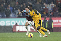 Brighton & Hove Albion's Yves Bissouma punder pressure from Burnley's Jack Cork<br /> <br /> Photographer Rich Linley/CameraSport<br /> <br /> The Premier League - Burnley v Brighton and Hove Albion - Saturday 8th December 2018 - Turf Moor - Burnley<br /> <br /> World Copyright © 2018 CameraSport. All rights reserved. 43 Linden Ave. Countesthorpe. Leicester. England. LE8 5PG - Tel: +44 (0) 116 277 4147 - admin@camerasport.com - www.camerasport.com