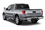 Rear three quarter view of a 2013 Nissan Titan SL Crew Cab 2wd