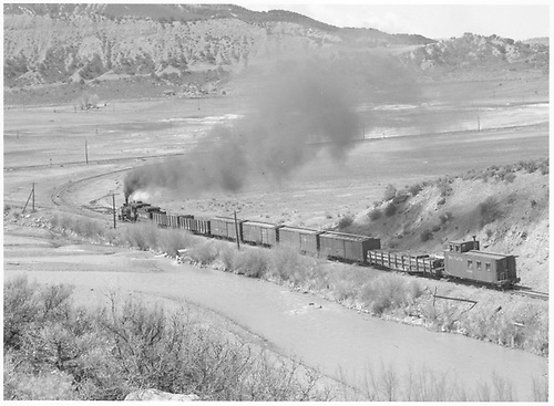 D&amp;RGW C-18 #318 on the last run.<br /> RGS  Ridgway, CO  Taken by Richardson, Robert W. - 3/21/1953
