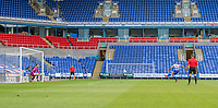 Reading's George Puscas taking a penalty kick scores his side's first goal <br /> <br /> Photographer David Horton/CameraSport<br /> <br /> The EFL Sky Bet Championship - Reading v Swansea City - Wednesday July 22nd 2020 - Madejski Stadium - Reading <br /> <br /> World Copyright © 2020 CameraSport. All rights reserved. 43 Linden Ave. Countesthorpe. Leicester. England. LE8 5PG - Tel: +44 (0) 116 277 4147 - admin@camerasport.com - www.camerasport.com