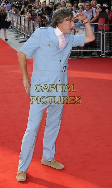 Steve Coogan<br /> attended the &quot;Alan Partridge: Alpha Papa&quot; UK film premiere, Vue West End cinema, Leicester Square, London, England, UK, <br /> 24th July 2013.<br /> full length in character blue suit belt hand looking gesture pose  pink tie white shirt <br /> CAP/CAN<br /> &copy;Can Nguyen/Capital Pictures