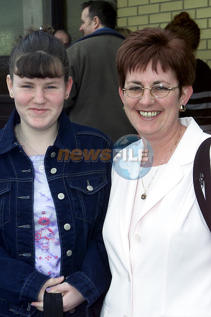 Grainne O'Brien from Rathmullen who was confirmed in Ballsgrove Church pictured with her mother Brenda..Picture Paul Mohan Newsfile