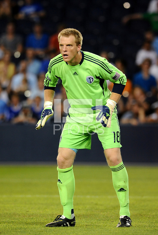 Sporting KC goalkeeper Eric Kronberg... Sporting Kansas City and Newcastle United played to a scoreless tie in an international friendly at LIVESTRONG Sporting Park, Kansas City, Kansas.