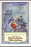 BNPS.co.uk (01202 558833)<br /> Pic: Nestle/BNPS<br /> <br /> Christmas packaging for Mackintosh's Toffee deLuxe.<br /> <br /> An original member of the Quality Street lineup has made way for a new chocolate after 80 years. <br /> <br /> The Toffee Deluxe was created in 1919 as a sweet in its own right and was included in the first ever box of Quality Street when it was invented in 1936.<br /> <br /> The stalwart, that has a brown wrapper, has now bitten the dust and has been ditched in favour of the new 'Honeycomb Crunch' sweet.