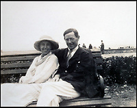 BNPS.co.uk (01202 558833)<br /> Pic:  PeterWilson/BNPS<br /> <br /> The Reverend George Jones and his sister Donie Jones.<br /> <br /> A charming letter which was carried on the first airship to cross the Atlantic has come to light 100 years later.<br /> <br /> Reverend George Jones, who was stationed at the Royal Naval Air Station East Fortune near Edinburgh, wanted to surprise his sister Donie by sending her a letter from America.<br /> <br /> So he gave the letter to one of the crew of airship R34 ahead of the historic flight on July 2, 1919, and asked him to post it to Donie from New York.<br /> <br /> He obliged and the letter reached its final destination in Bournemouth, Dorset, several months later as it made the return journey via ship.