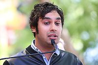 HOLLYWOOD, LOS ANGELES, CA, USA - OCTOBER 29: Kunal Nayyar at the ceremony honoring Kaley Cuoco with a star in the Hollywood Walk Of Fame on October 29, 2014 in Hollywood, Los Angeles, California, United States. (Photo by Xavier Collin/Celebrity Monitor)