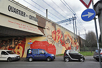 - Milano, quartiere Ortica, dipinto murale storico, cantanti ed artisti popolari<br /> <br /> - Milan, Ortica district, historical wall painting, popular singers and artists