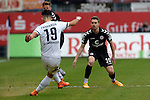 GER - Sandhausen, Germany, March 19: During the 2. Bundesliga soccer match between SV Sandhausen (white) and FC ST. Pauli (grey) on March 19, 2016 at Hardtwaldstadion in Sandhausen, Germany. (Photo by Dirk Markgraf / www.265-images.com) *** Local caption *** Leart Paqarada #19 of SV Sandhausen, p10+