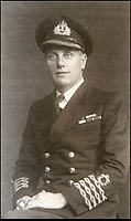 BNPS.co.uk (01202 558833)Pic: HAldridge/BNPS<br /> <br /> Treasure Jones during the war.<br /> <br /> The archive of one of Britains most famous mariners is sailing in to auction at HAldridge in Devizes in Wiltshire.<br /> <br /> Capt John Treasure Jones captained the Mauretania, and Queen Elizabeth before commanding the Queen Mary on her final Atlantic crossing in 1967.<br /> <br /> During WW2 he was torpedoed off Ireland before captaining a Sunflower class Corvette, he finished the war serving under Mountbatten in the Far East.