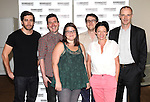Jake Gyllenhaal, Michael Longhurst, Annie Funk, Nick Payne, Michelle Gomez, and Brian F. O'Byrne.attending the Meet & Greet for the Roundabout Theatre Company Production of 'If There Is I Haven't Found it Yet'.at their rehearsal studios in New York City on 7/25/2012