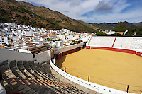 The bull ring at Mijas, with the mountains in the background, Spain