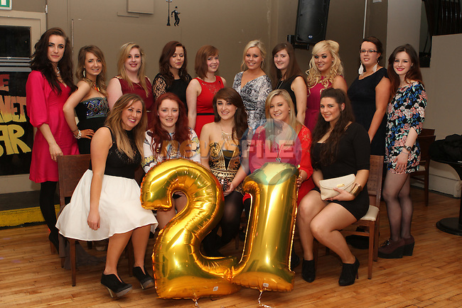 Ciara Lenehan celebrates her 21st with friends in Planet Bar...(Photo credit should read Jenny Matthews/NEWSFILE)...