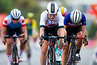 Picture by Alex Whitehead/SWpix.com - 14/04/2018 - Commonwealth Games - Cycling Road - Currumbin Beachfront, Gold Coast, Australia - Ellie Dickinson of England finishes the Women's Road Race.