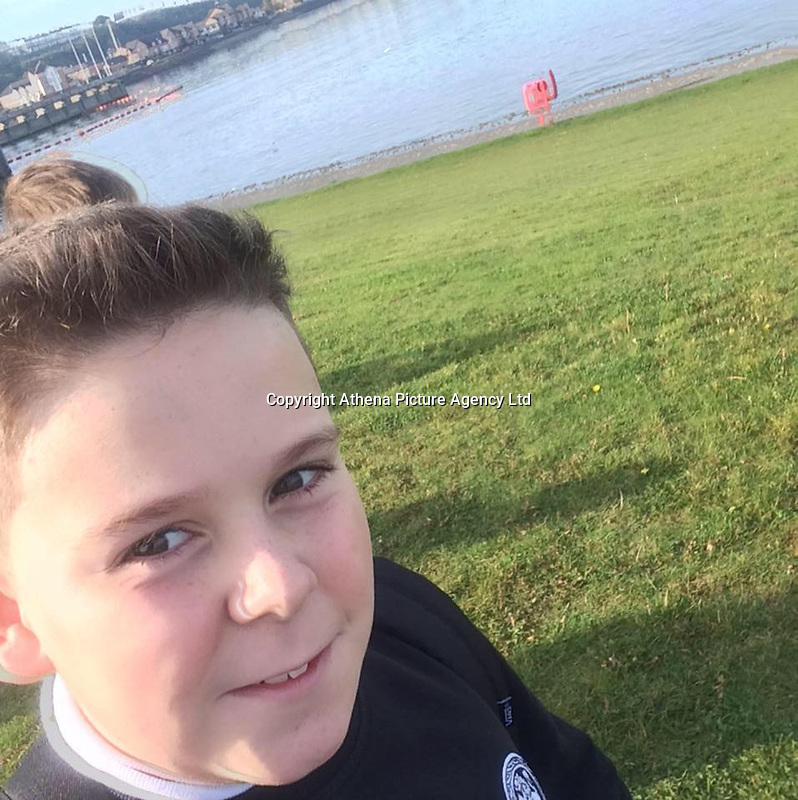 Pictured: Carson Price.<br /> Re: A 13-year-old boy, named lofcally as Carson Price, has died after being found unconscious in Ystrad Mynach Park, Caerphilly County, at about 7.20pm on Friday 12 April.<br /> The teen was taken to University Hospital of Wales in Cardiff where he was pronounced dead.
