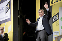 cycling legend Eddy Merckx celebrated on the podium after the stage, 50 years after winning his first (of 5) Tour de France titles<br /> <br /> Stage 1: Brussels to Brussels (BEL/192km) 106th Tour de France 2019 (2.UWT)<br /> <br /> ©kramon