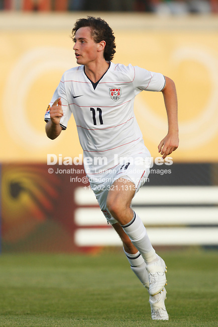 SUEZ, EGYPT - SEPTEMBER 26:  Mikkel Diskerud of the United States in action during a FIFA U-20 World Cup soccer match against Germany September 26, 2009 in Suez, Egypt.  (Photograph by Jonathan P. Larsen)