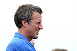 30 August 2015: DePaul head coach Craig Blazer. The Duke University Blue Devils hosted the DePaul University Blue Demons at Koskinen Stadium in Durham, NC in a 2015 NCAA Division I Men's Soccer match.
