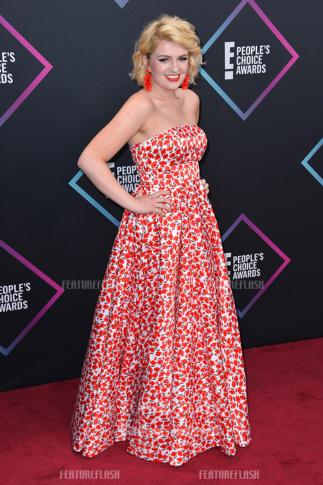 LOS ANGELES, CA. November 11, 2018: Maddie Poppe at the E! People's Choice Awards 2018 at Barker Hangar, Santa Monica Airport.<br /> Picture: Paul Smith/Featureflash