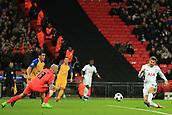 6th December 2017, Wembley Stadium, London England; UEFA Champions League football, Tottenham Hotspur versus Apoel Nicosia; Fernando Llorente of Tottenham Hotspur scores making it 1-0