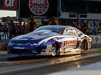 Sep 16, 2016; Concord, NC, USA; NHRA pro stock driver Jason Line during qualifying for the Carolina Nationals at zMax Dragway. Mandatory Credit: Mark J. Rebilas-USA TODAY Sports
