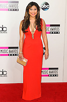LOS ANGELES, CA - NOVEMBER 24: Jenna Ushkowitz arriving at the 2013 American Music Awards held at Nokia Theatre L.A. Live on November 24, 2013 in Los Angeles, California. (Photo by Celebrity Monitor)