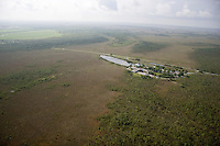 Aerial of Ernest Coe Visitor Center at the entrance to Everglades National Park, Florida
