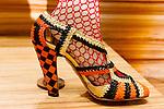 Lola Goodman shoes at the Catherine Martin and Muccia Prada Dress Gatsby display at Prada store in SOHO, NYC May 4, 2013.