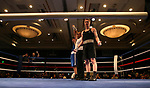 Nevada boxer Brayden Stockbauer and Air Force Academy boxer Alan Long compete in the National Collegiate Boxing Association action in Reno, Nev. on Friday, Jan. 31, 2020. Stockbauer won the bout. <br /> Photo by Cathleen Allison