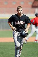 Garrett Baker - San Francisco Giants - 2009 spring training.Photo by:  Bill Mitchell/Four Seam Images