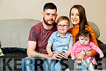 Dara Lenihan and Daniel O'Connell with Cian (4) and Saoirse (4 months)