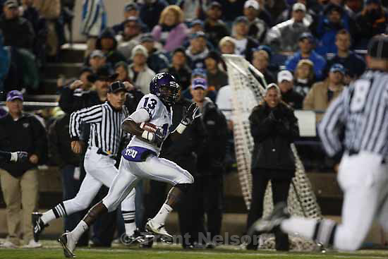 antoine hicks.BYU vs. TCU college football Saturday, October 24 2009 in Provo.
