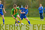 Ronan Buckley Killarney Athletic puts pressure on Cathal O'Keeffe Ballingarry during their FAI cup clash in Woodlawn on Saturday