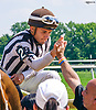 Nik Juarez aboard Threeohtwocassie winning at Delaware Park on 6/13/17