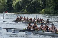 Henley. Berks, United Kingdom. <br /> <br /> J8. Buckenham B&amp;N Schoo,l USA. competing at  the2017 Henley' Women's Regatta. Rowing on, Henley Reach. River Thames. <br /> <br /> <br /> Saturday  17/06/2017<br /> <br /> <br /> [Mandatory Credit Peter SPURRIER/Intersport Images]