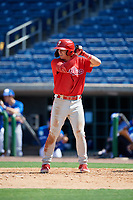 Philadelphia Phillies Bryson Stott (10) at bat during an Instructional League game against the Toronto Blue Jays on September 17, 2019 at Spectrum Field in Clearwater, Florida.  (Mike Janes/Four Seam Images)