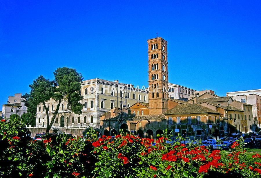 Igreja Cosmedin em Roma. Itália. 2000. Foto de Vinicius Romanini.