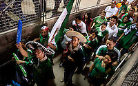 Fans exit Cotton Bowl Stadium after Mexico played Colombia in an exhibition game at in Dallas, Texas, USA, Wednesday, Sept., 30, 2009. Colombia won the game 2-1, which was played as the second game of a double header after an FC Dallas soccer game in an attempt by Major League Soccer to draw a new crowd of hispanic people to the sport in the US...PHOTOS/ MATT NAGER
