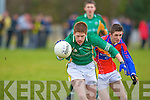 Cian Horan St Brendan's College breaks away from Sean Lehane ISK during their quarter final clash in Listry on Wednesday