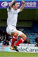 Matty Kennedy celebrates scoring Portsmouth opening goal during Gillingham vs Portsmouth, Sky Bet EFL League 1 Football at the MEMS Priestfield Stadium on 8th October 2017