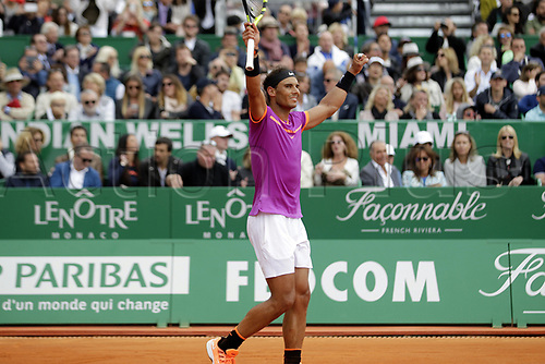 April 23rd 2017, Monte Carlo, Monaco; The Monte-Carlo Rolex Masters tennis tournament singles final, Rafael Nadal versus Albert Ramos-Vinolas; Nadal beats Albert Ramos-Vinolas in 2 sets to win the final