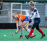 HUIZEN - Hockey - Melle Spruijt (Bldaal)  Hoofdklasse hockey competitie, Huizen-Bloemendaal (2-1) . COPYRIGHT KOEN SUYK