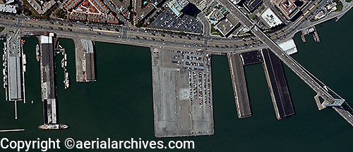 aerial photograph piers San Francisco, California