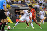 East Rutherford, NJ - Friday June 17, 2016: Daniel Torres, Oscar Vilchez after a Copa America Centenario quarterfinal match between Peru (PER) vs Colombia (COL) at MetLife Stadium.