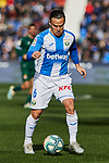 Roque Mesa of CD Leganes during La Liga match between CD Leganes and RCD Espanyol at Butarque Stadium in Leganes, Spain. December 22, 2019. (ALTERPHOTOS/A. Perez Meca)