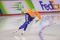 SCHAATSEN: CALGARY: Olympic Oval, 09-11-2013, Essent ISU World Cup, 500m, Mayon Kuipers, ©foto Martin de Jong