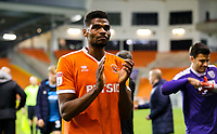 Blackpool's Michael Nottingham applauds the fans after the match<br /> <br /> Photographer Alex Dodd/CameraSport<br /> <br /> The EFL Checkatrade Trophy Northern Group C - Blackpool v West Bromwich Albion U21 - Tuesday 9th October 2018 - Bloomfield Road - Blackpool<br />  <br /> World Copyright &copy; 2018 CameraSport. All rights reserved. 43 Linden Ave. Countesthorpe. Leicester. England. LE8 5PG - Tel: +44 (0) 116 277 4147 - admin@camerasport.com - www.camerasport.com