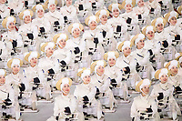 PYEONGCHANG,SOUTH KOREA,09.FEB.18 - OLYMPICS - Olympic Winter Games PyeongChang 2018, official opening ceremony. Image shows traditional dance show. Photo: GEPA pictures/ Joel Marklund / Copyright : Explorer-media