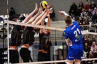 GRONINGEN - Volleybal, Lycurgus - Papendal, Eredivisie,  seizoen 2019-2020, 19-1-2020,  smash Lycurgus speler Bennie Tuinstra